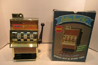 Vintage Waco Golden Jackpot Slot Machine Model No. 6764 Made In Japan With Box