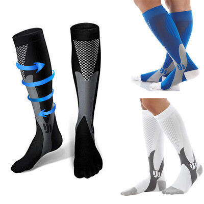 Unisex Anti-Fatigue Compression Socks Varicose Vein Stockings Running Football