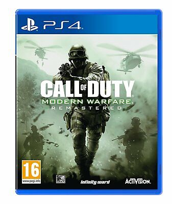 Call of Duty Modern Warfare Remastered PS4 COD Game for PlayStation 4 NEW SEALED