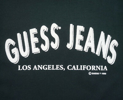 Vintage 90's Guess Jeans USA Los Angeles, California T-Shirt XL 1993