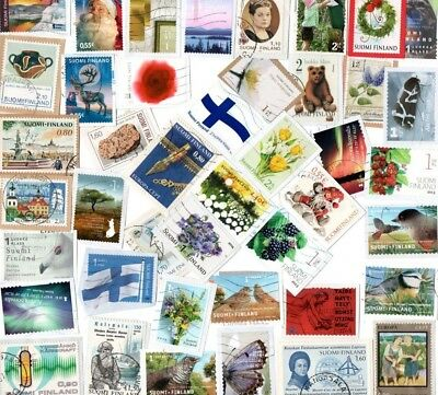 A Lovely Selection Of Kiloware Stamps From Finland