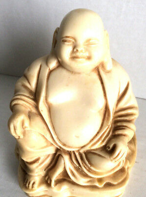 Vintage Chinese Resin Buddha Figure Made in Italy