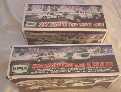 2012 Hess Helicopter and Rescue Brand & 2011 Truck and Race Car NEW in box