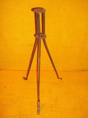 "Antique Vintage 17"" Tall Lightning Rod Stand Tripod Base For Rod & Ball Holder"