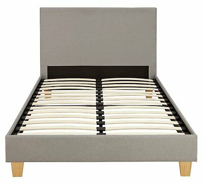 85fb327fca9f ARGOS HOME OLIVER Grey Small Double Fabric Bed in a Box - £129.99 ...