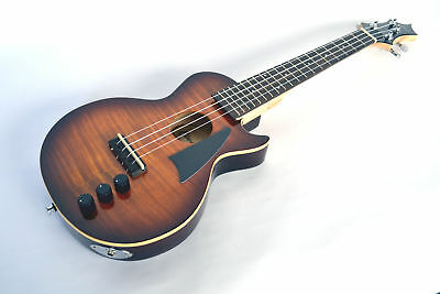 B Stock Slimline Electric Tenor Ukulele Powered Pickup Flame Maple By Clearwater