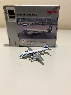 Herpa 1:500 Scale 510646 - Vickers Viscount V803 KLM Royal Dutch Air Boxed