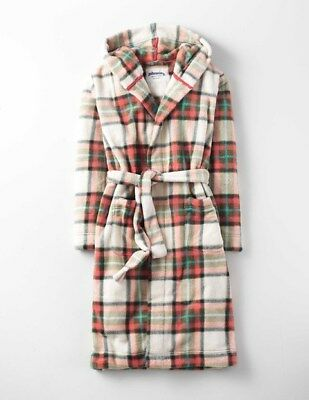 NEW Johnnie B Mini Boden Dressing Gown - Check - Age 7 to 8 years