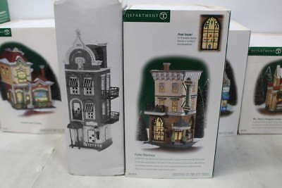 Lot of 7 Assorted Department 56 Christmas Village Buildings