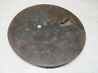 "Old Iron Pot Hole Lid Cover Plate for Wood Burning Stove Lot A 8&3/8"" dia."