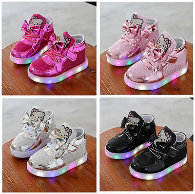 Light Up Shoes LED Flashing Trainers Casual Sneakers Kids Boys Girls Baby Shoes