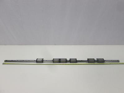 "Lot of 6 NSK LH20 Bearings on a 46"" CNC Linear Slide Rails"