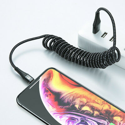FLOVEME Retractable USB Cable For iPhone XS Max XR X 8 7 2A Fast Charging Cable