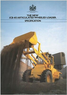 JCB 415 Articulated Wheeled Loader Brochure