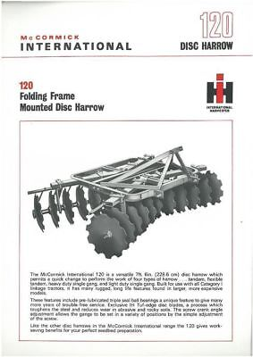 International 120 Disc Harrow Brochure