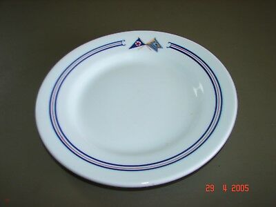 Vintage Branford Ct. Yacht Club Restaurant Ware Plate, Boat, Boating, Nautical