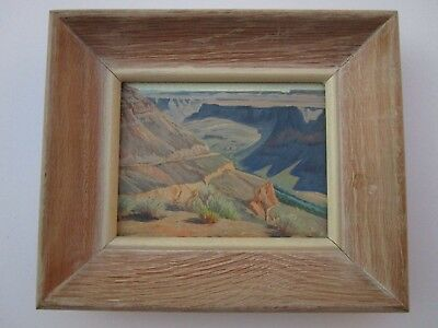 Incredible Small Gem Grand Canyon Painting Ray Strong Finest Student Of M Dixon