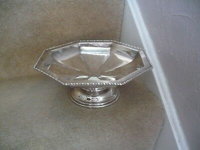A Vintage Octagonal Ai Silver Plated  Bowl / Dish A Stunning Looking Bowl