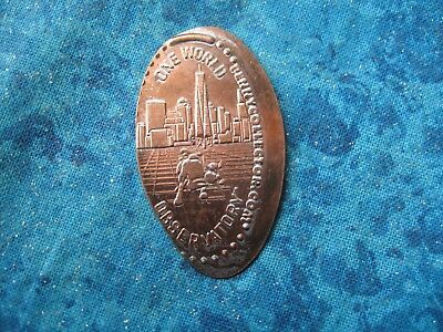 ONE WORLD OBSERVATORY NEW YORK CITY Elongated Penny Pressed Smashed 20