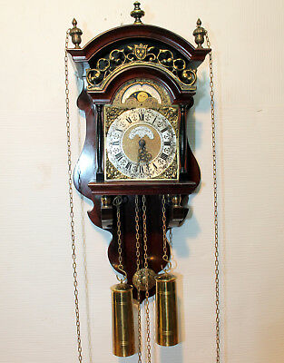 Old Wall Clock Chime with Moonphase*WUBA*WARMINK*TEMPUS FUGIT*