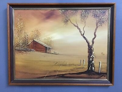 Large Austrailian Oil On Board Painting griffith new south wales Signed Anderson