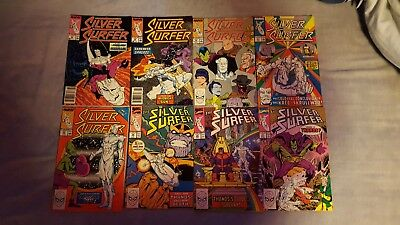 Silver Surfer lot 28-31,33-35 & 37  Thanos Infinity Gauntlet etc. 8 total issues