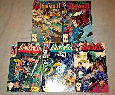 Marvel The Punisher Comics #10, 11, 40, 41, 42 (5 issue lot)