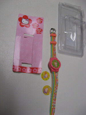 Hello Kitty PINK Plastic /Stainless Steel Watch Interchangeable Disk Lift Covers