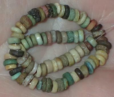 75 Ancient Egyptian Faience Mummy Beads, 3.5-5mm, 3000+Years Old, #A9579