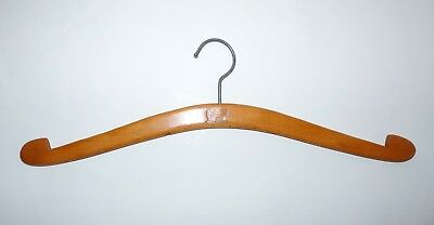 Wooden vintage retro coat hanger clothes hanger