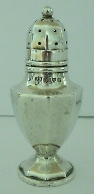 Antique Solid Silver Pepper Salt Pot John & William Deakin Chester 22g 1915 Rare