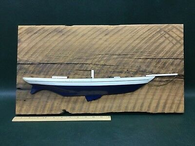 Vintage Half Hull Maritime Marine Nautical Boat Ship Wall Decor on Barn Board