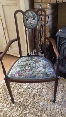 Pretty  ELBOW CHAIR WITH TAPESTRY SEAT