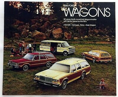 Car Auto Brochure 1980 Ford Wagons Ltd Fairmont Pinto 20 Pages