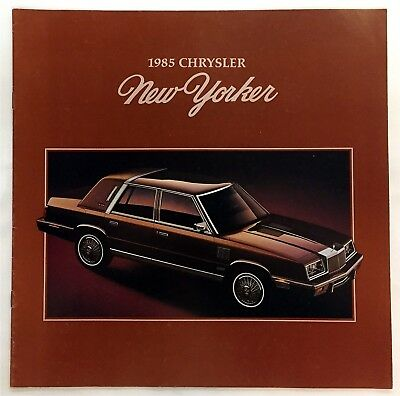 Car Auto Brochure 1985 Chrysler New Yorker 8 Pages