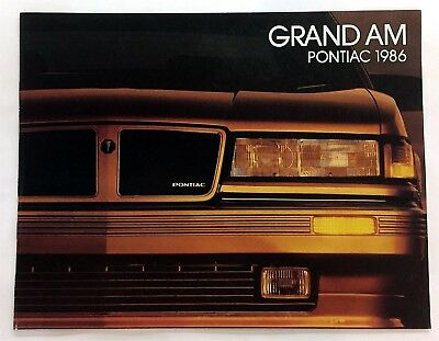 Car Auto Brochure 1986 Pontiac Grand Am 6 Pages