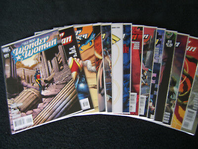 Wonder Woman by J. Michael Straczynski, Issues 601- 614, all bagged & boarded.