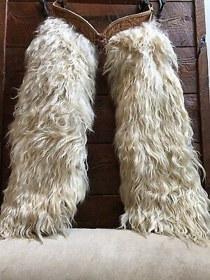 Vintage Angora Wooly Woolies Chaps By Doug Cox.  Authentic Cowboy Chaps