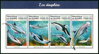 HERRICKSTAMP NEW ISSUES GUINEA Dolphins Sheetlet at Face Value