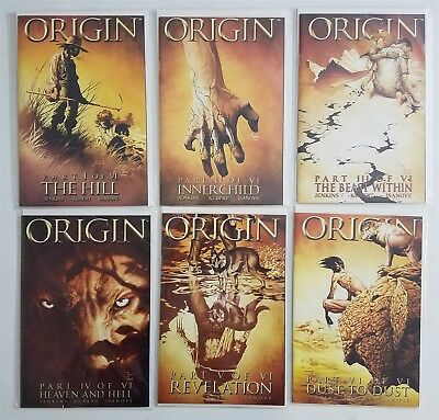 Origin (2001) #1-6 Marvel Comic Complete Full Run Lot Logan Wolverine X-Men Nm/m
