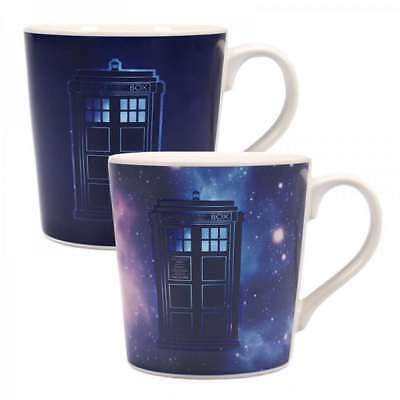 Official Dr Doctor Who Galactic Tardis Tapered Heat Changing Magic Coffee Mug