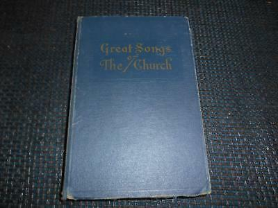 Antique 1937 Religious Book Hymnal GREAT SONGS OF THE CHURCH Number Two Old Vtg