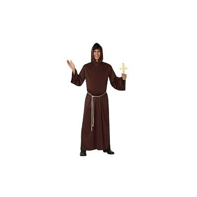 Costume Cosplay Halloween Monaco Frère Prêtre Carnaval Adulte Homme Robe