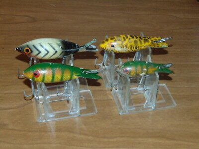 """Lot Of  """"4""""<>Vintage<> """"Bomber""""  Wood Lures<>"""
