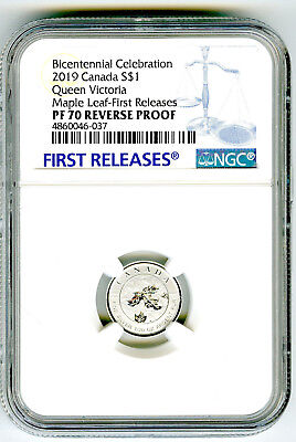2019 $1 Canada 1/20Oz Silver Maple Leaf Queen Victoria Ngc Pf70 Reverse Proof Fr