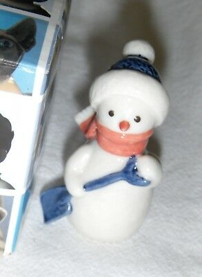 "Royal Copenhagen Collections #770 2"" Snowman with Shovel, in Original Box (L 21"