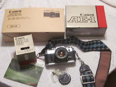 Vintage Canon AE-1 Camera With Canon Lens FD 50mm 1:1.8 good working condition