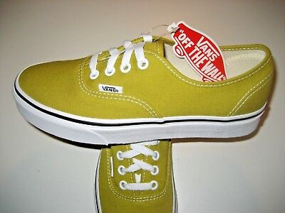 099d4b57b5 Vans Womens Authentic Cress Green True White Canvas Skate Boat shoes Size  8.5