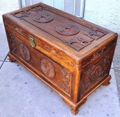 19Th-Century-Antique-Chinese-Wood-Carved-Dragon-Trunk