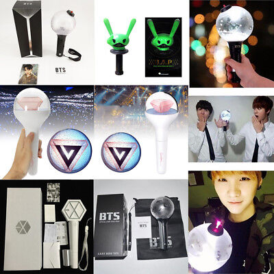KPOP BTS EXO Seventeen Glow Concert Lamp Light Stick Ver.2 VER.3 Lightstick Lot